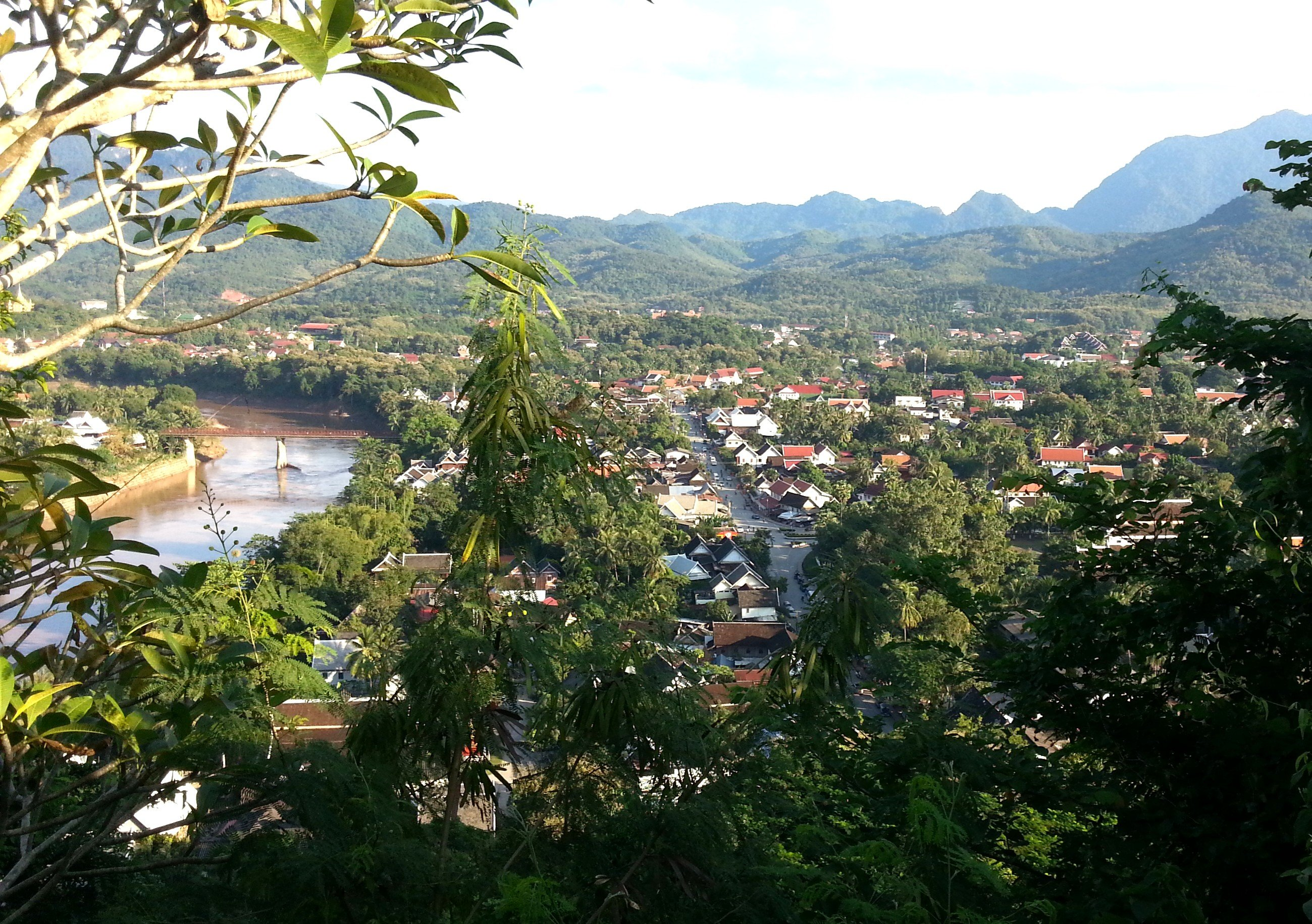 Luang Prabang is located on the banks of the Mekong River