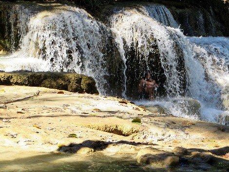 Trek to the Kuang Si Waterfall near Luang Prabang