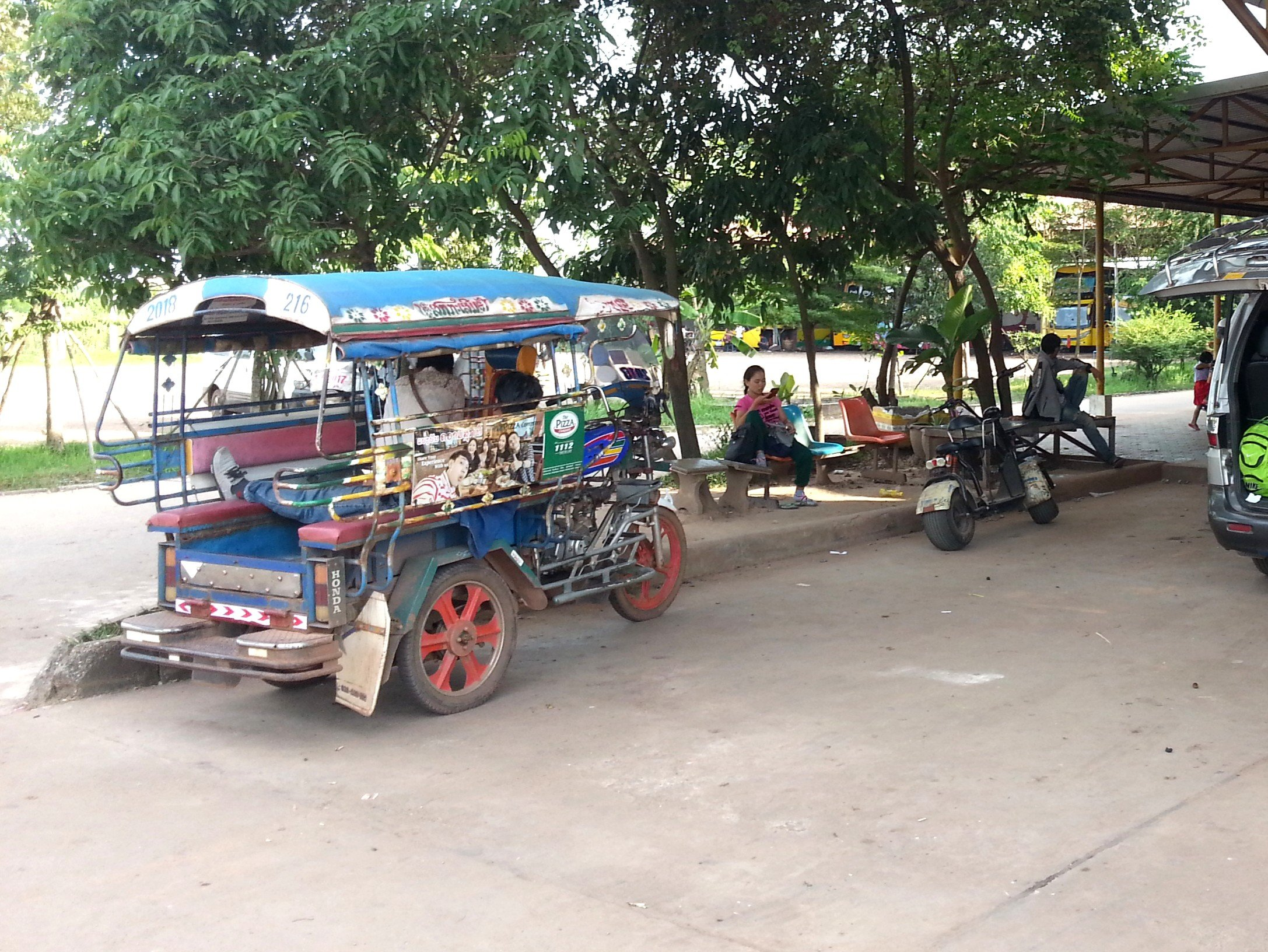 Tuk tuk waiting outside Vientiane Northern Bus Terminal