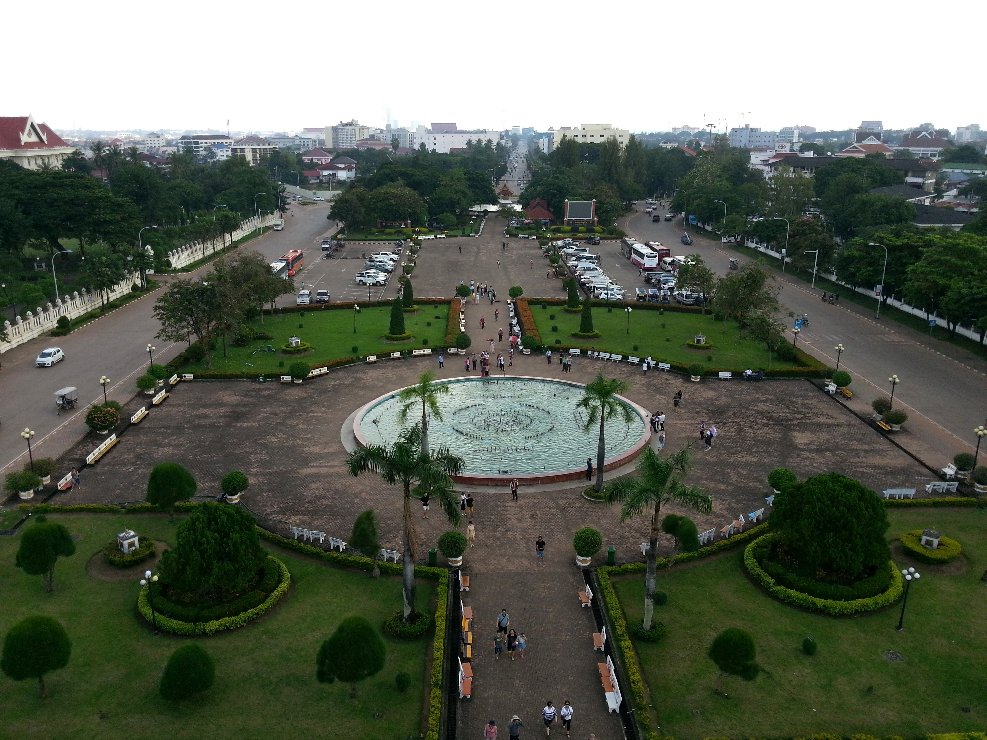 Patuxai Park seen from the top of the monument
