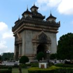The Patuxai Monument in Vientiane, Laos
