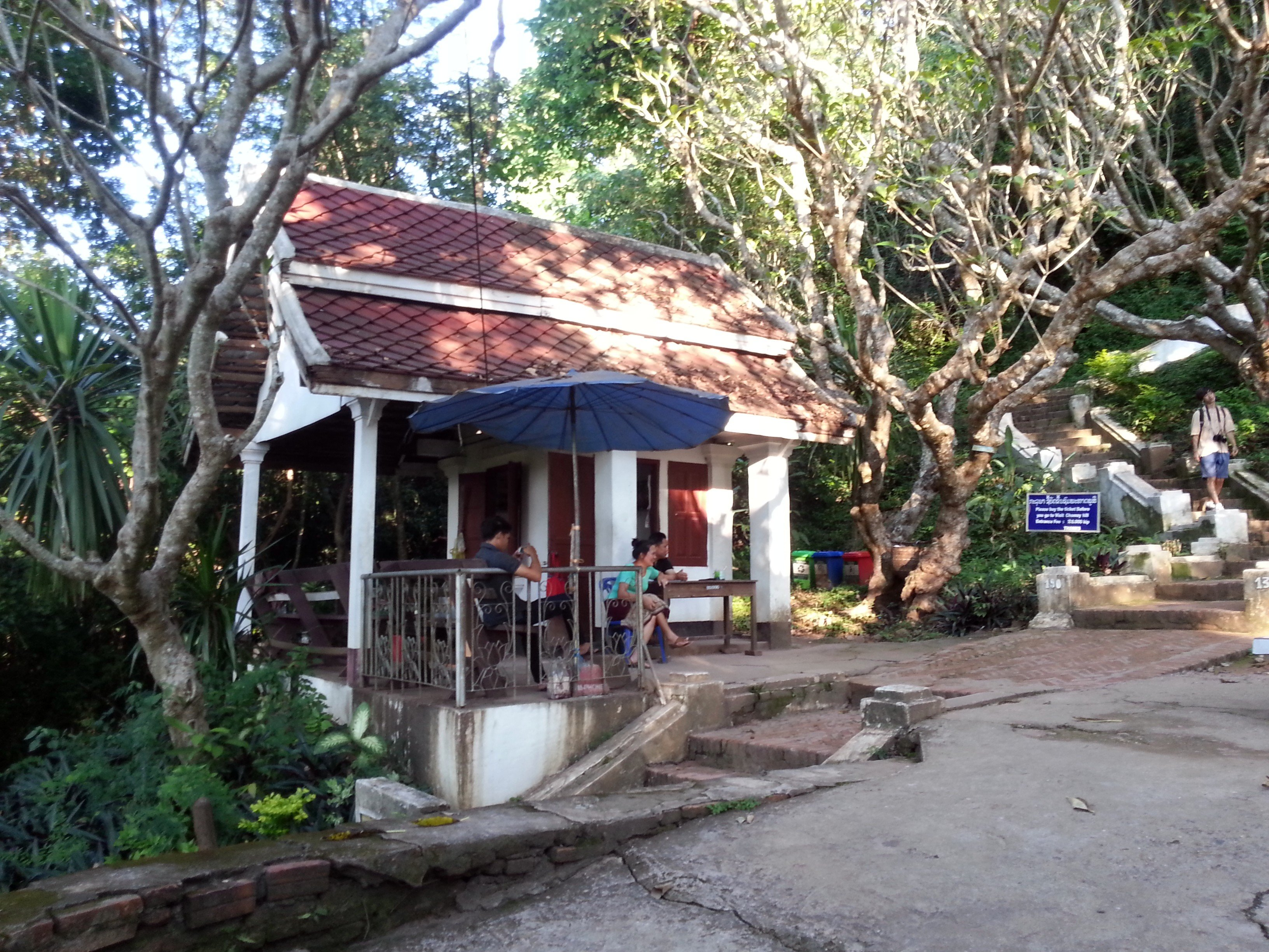 Ticket booth for Phou Si Hill