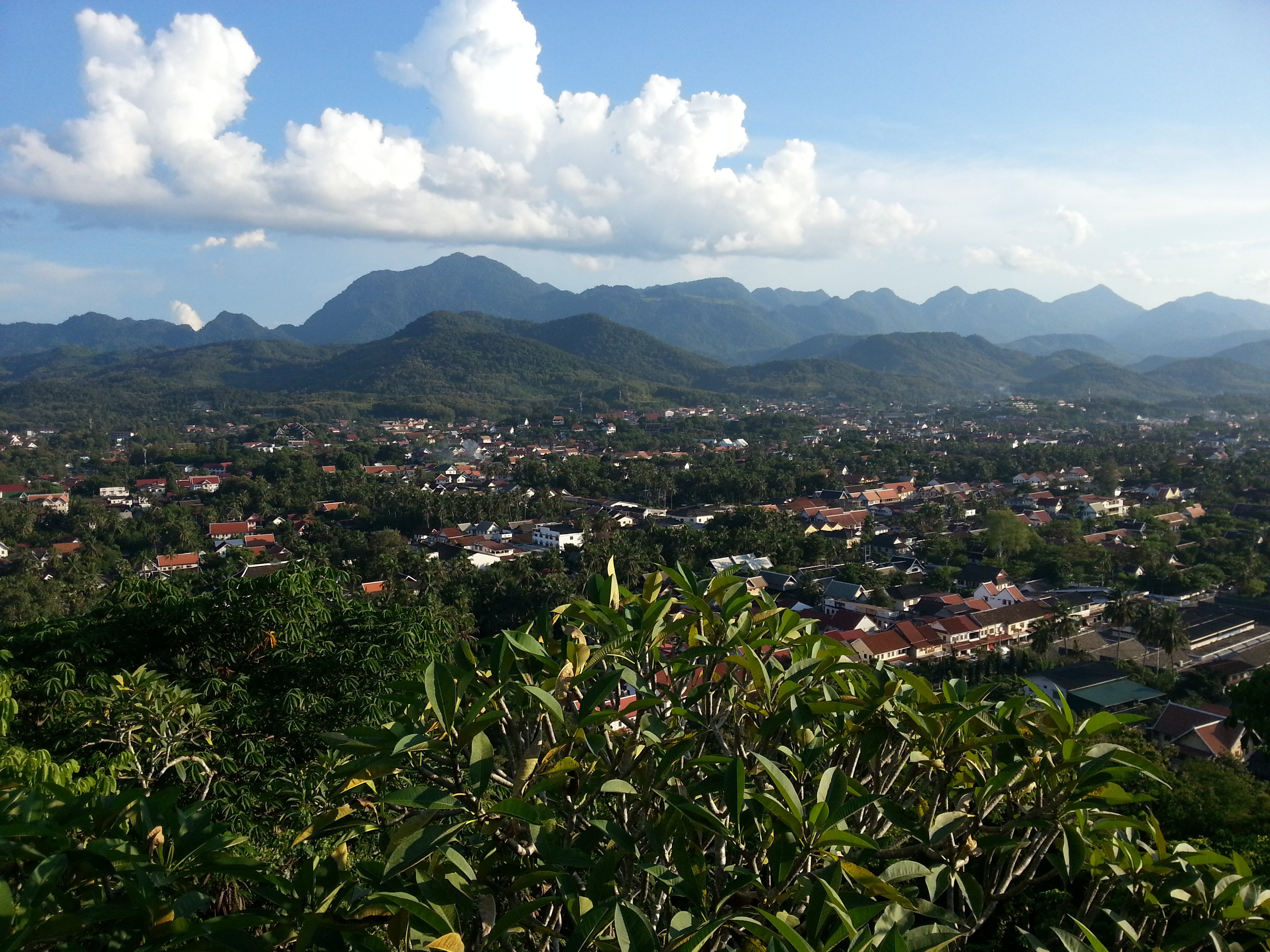 View to the south west of Phou Si Hill