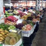 Vegetable section at Phoukam Garden Agriculture Wet Market