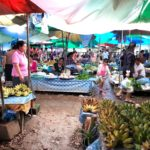 Bananas on sale at Xayaboury Market
