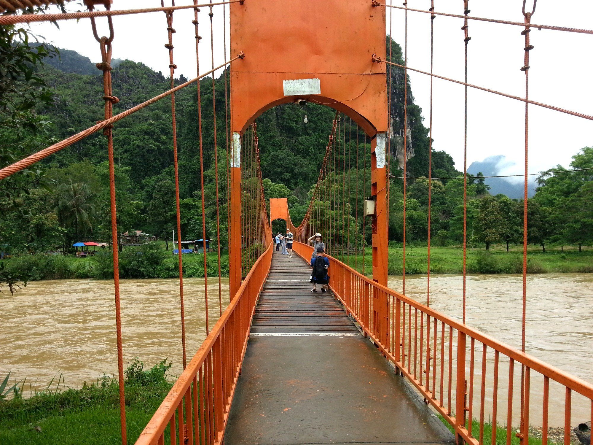 Bridge to Tham Chang Cave