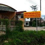 Entrance to Vang Vieng South Bus Terminal