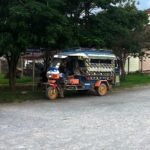 Tuk tuk at Xiengkhouang Bus Station