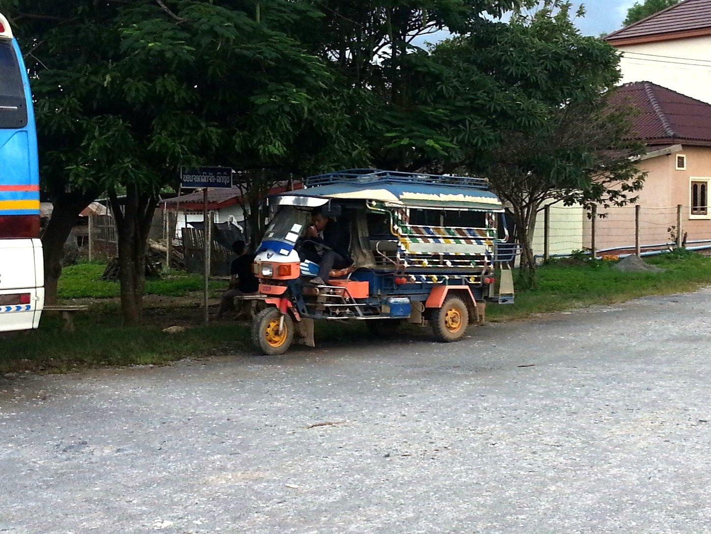 Tuk tuk at Xiengkhouang Bus Station