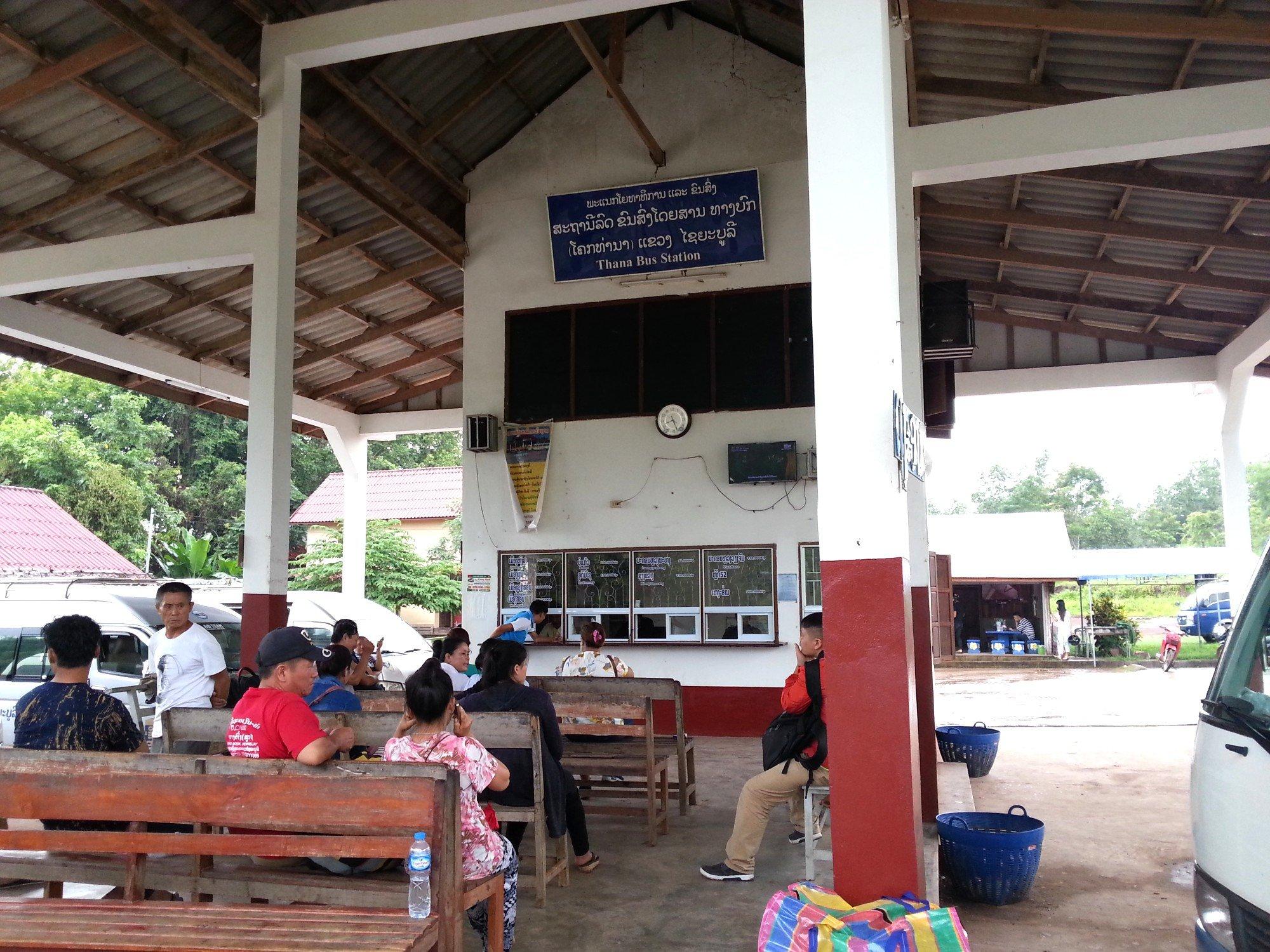 Waiting area at Xayaboury North Bus Station