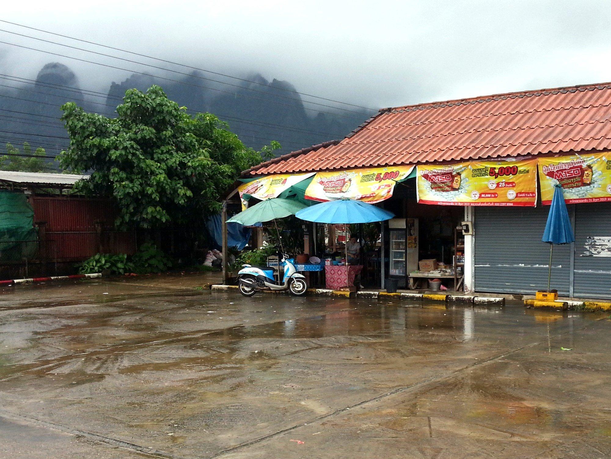 Shop at Vang Vieng North Bus Terminal