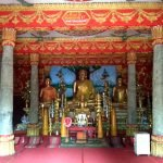 Inside the prayer hall at Wat That