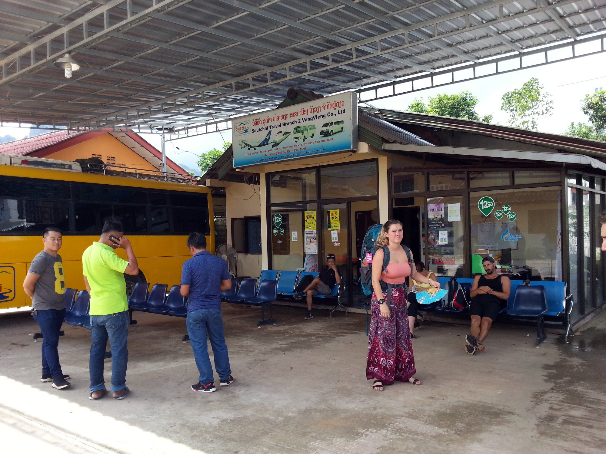 Soutchai Travel office in Vang Vieng