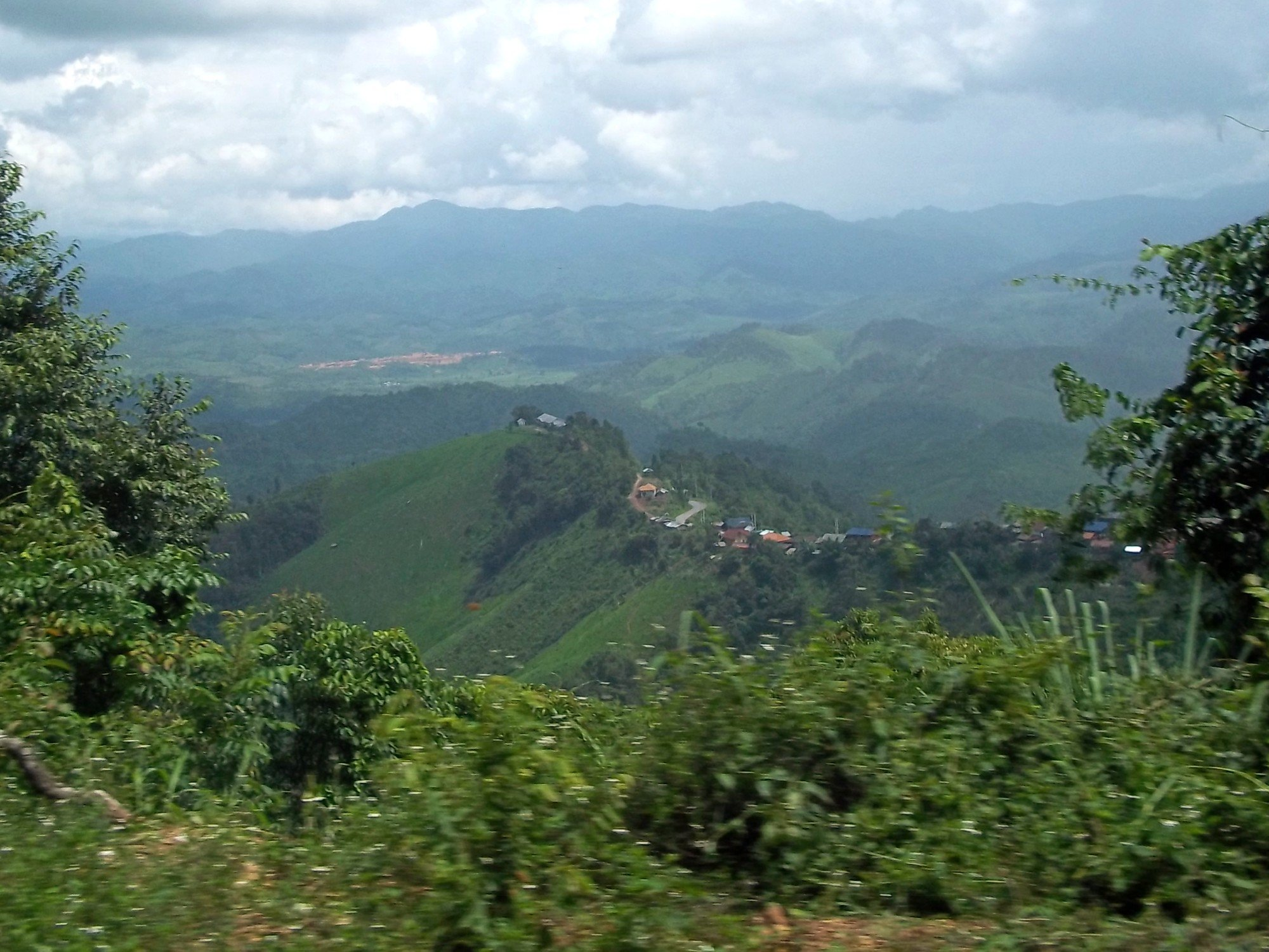 The road to Phonsavan passes through hill top villages