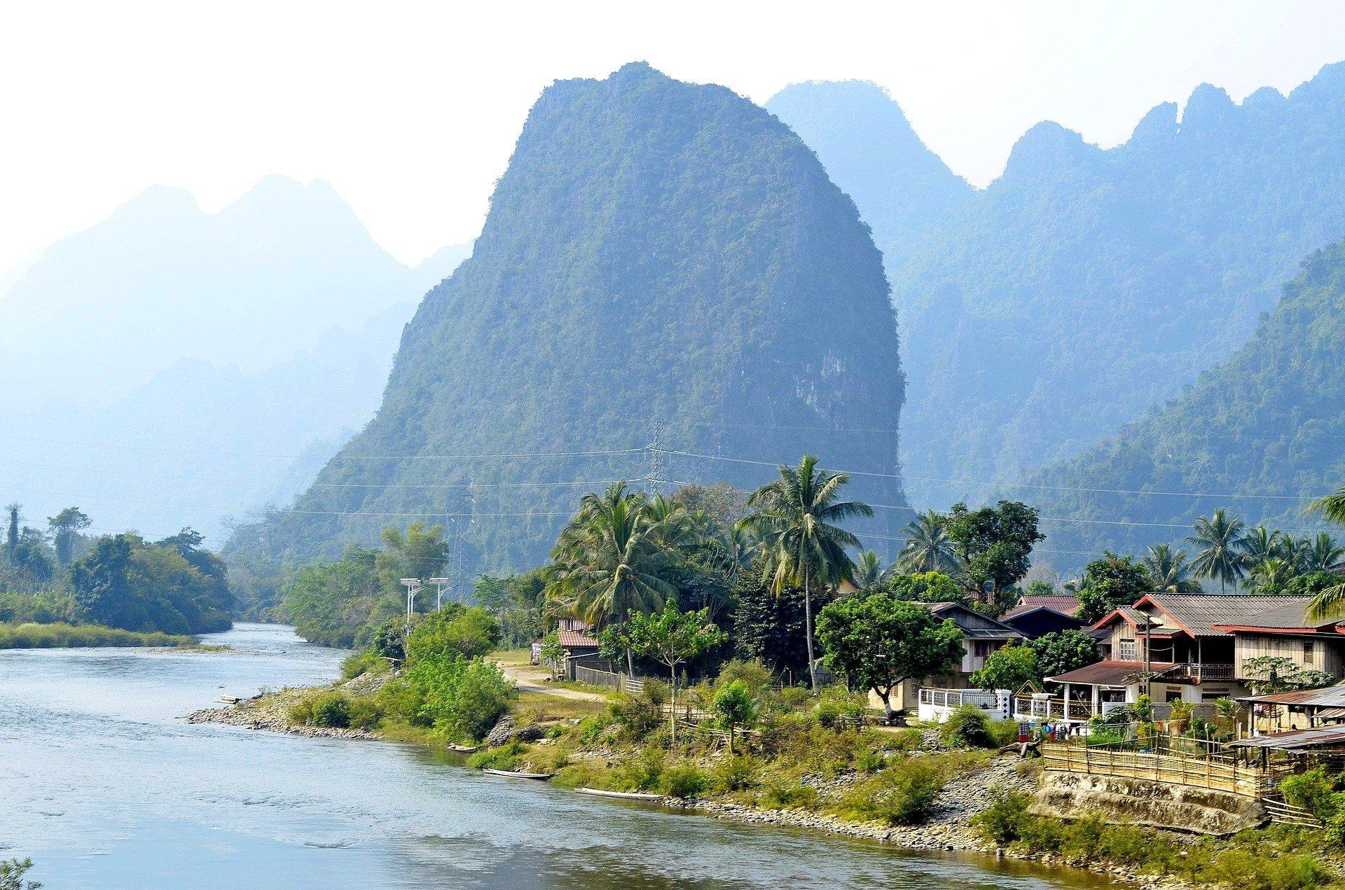 Riverside in Nong Khiaw