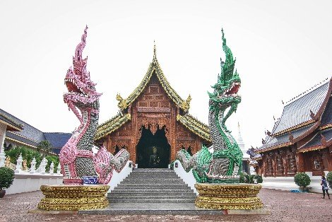 Wat Ban Den is located 60 km north of Chiang Mai