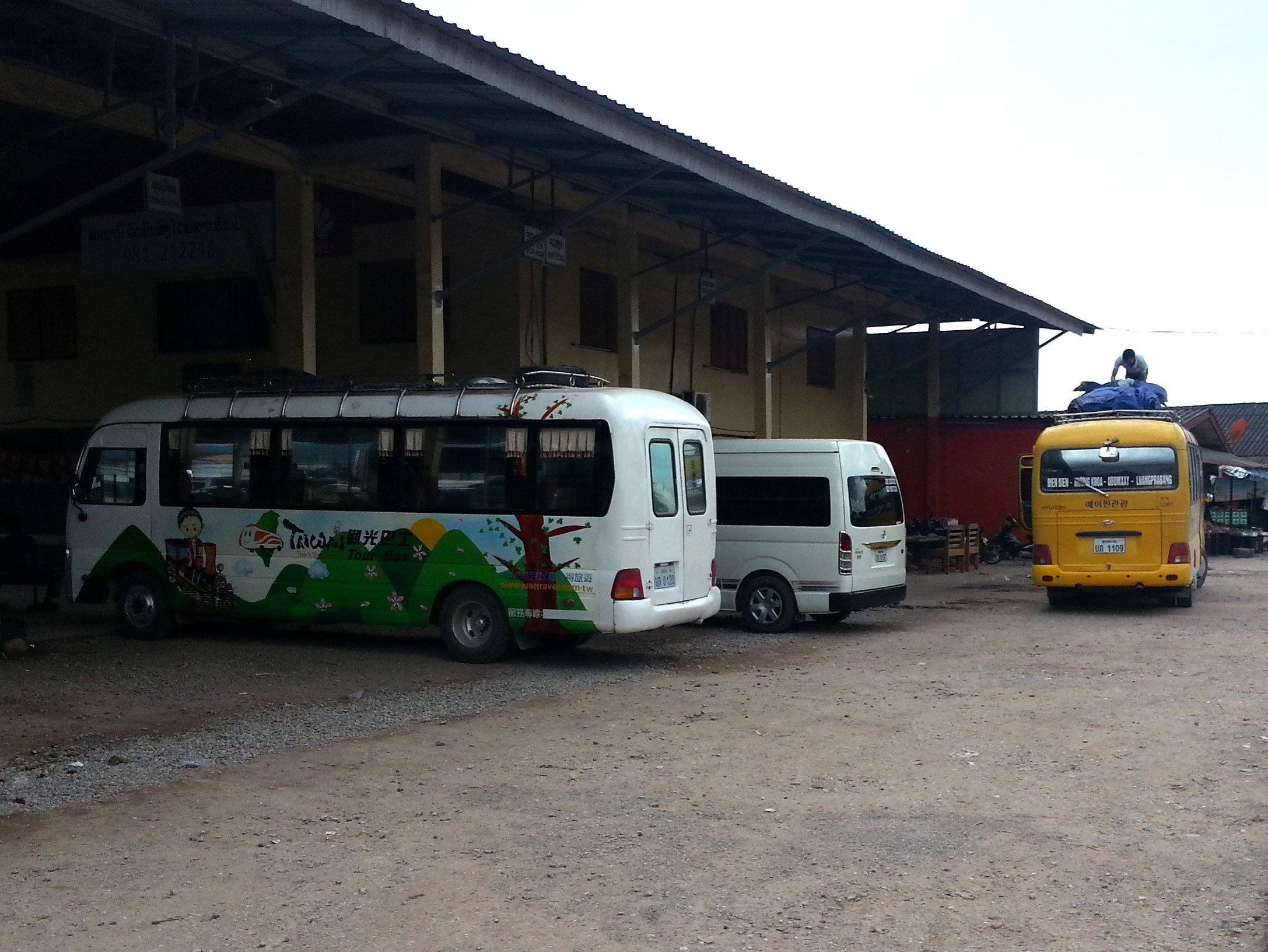 Bus and minivan services at Oudomxay Southern Bus Terminal