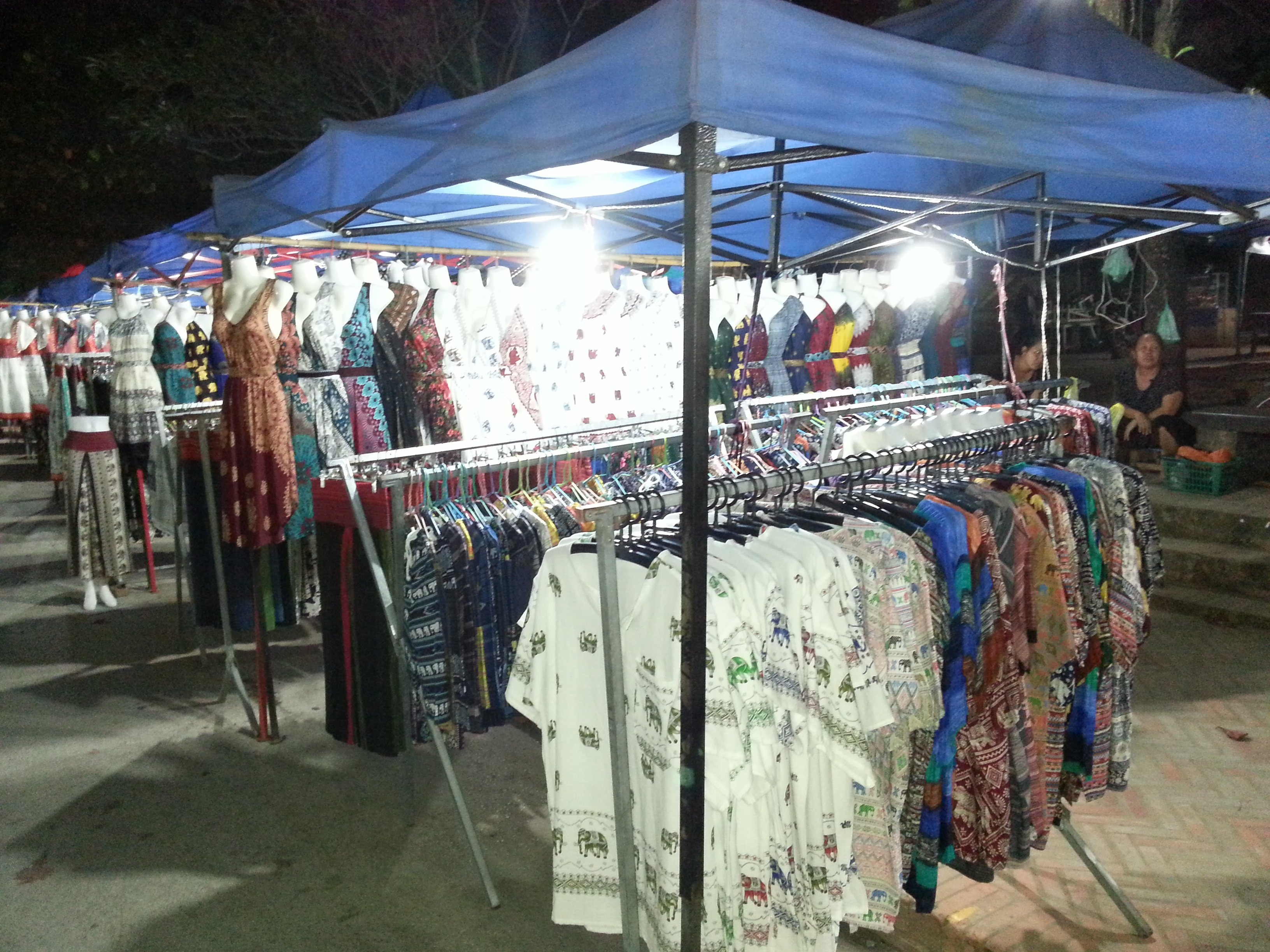 Clothes stalls at Luang Prabang Night Market