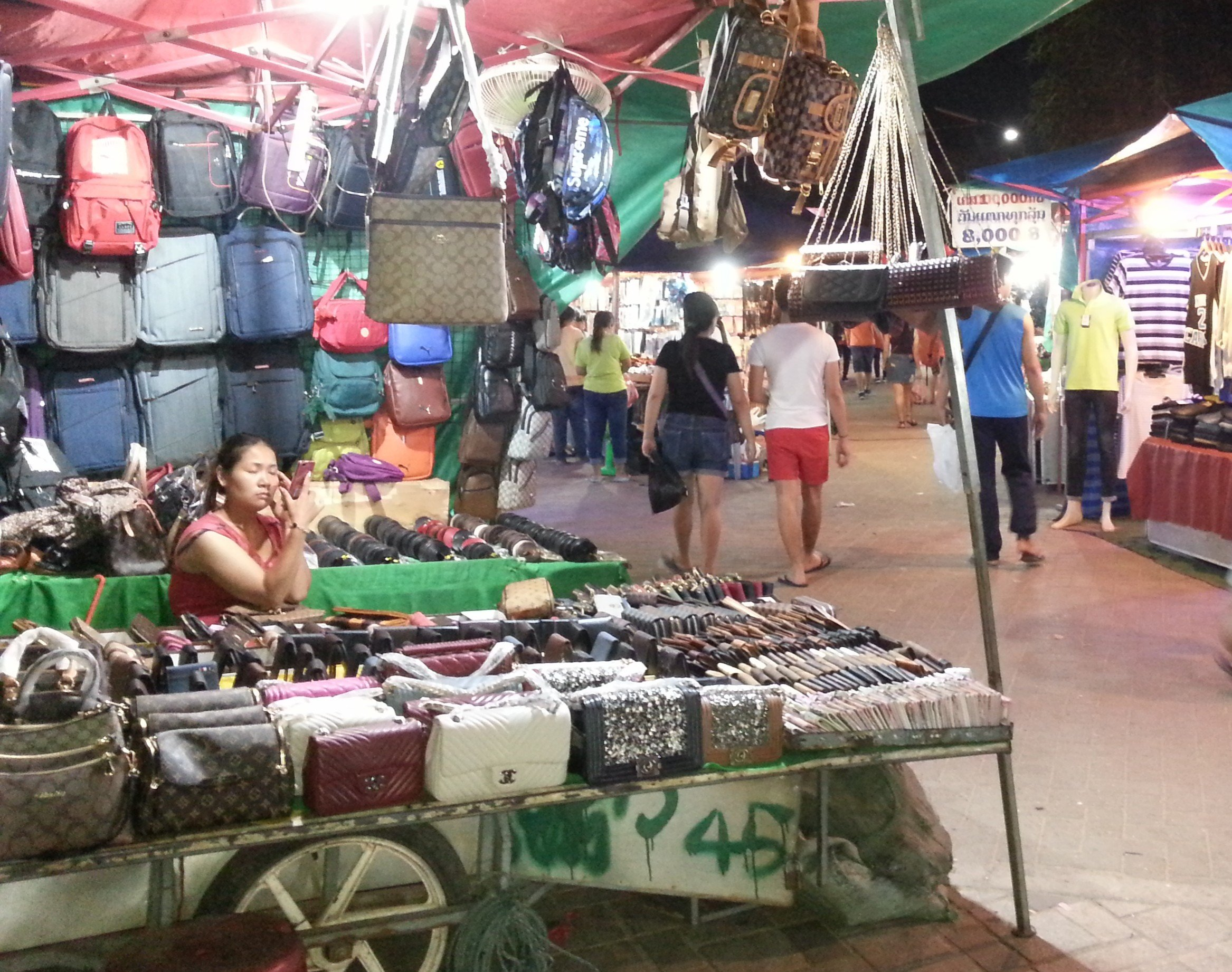 Handbags at Vientiane Night Market