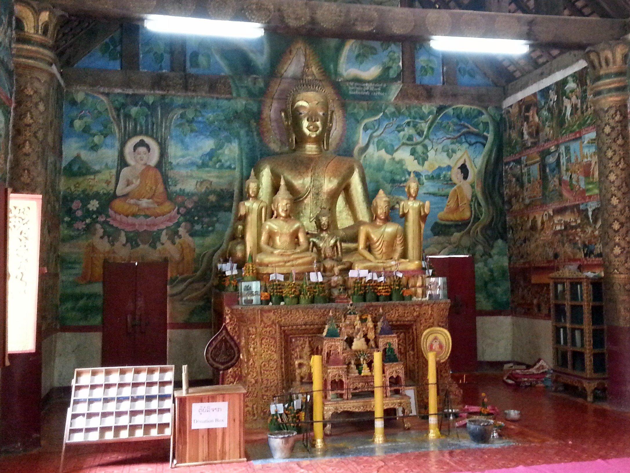 Main shrine at Wat Aham