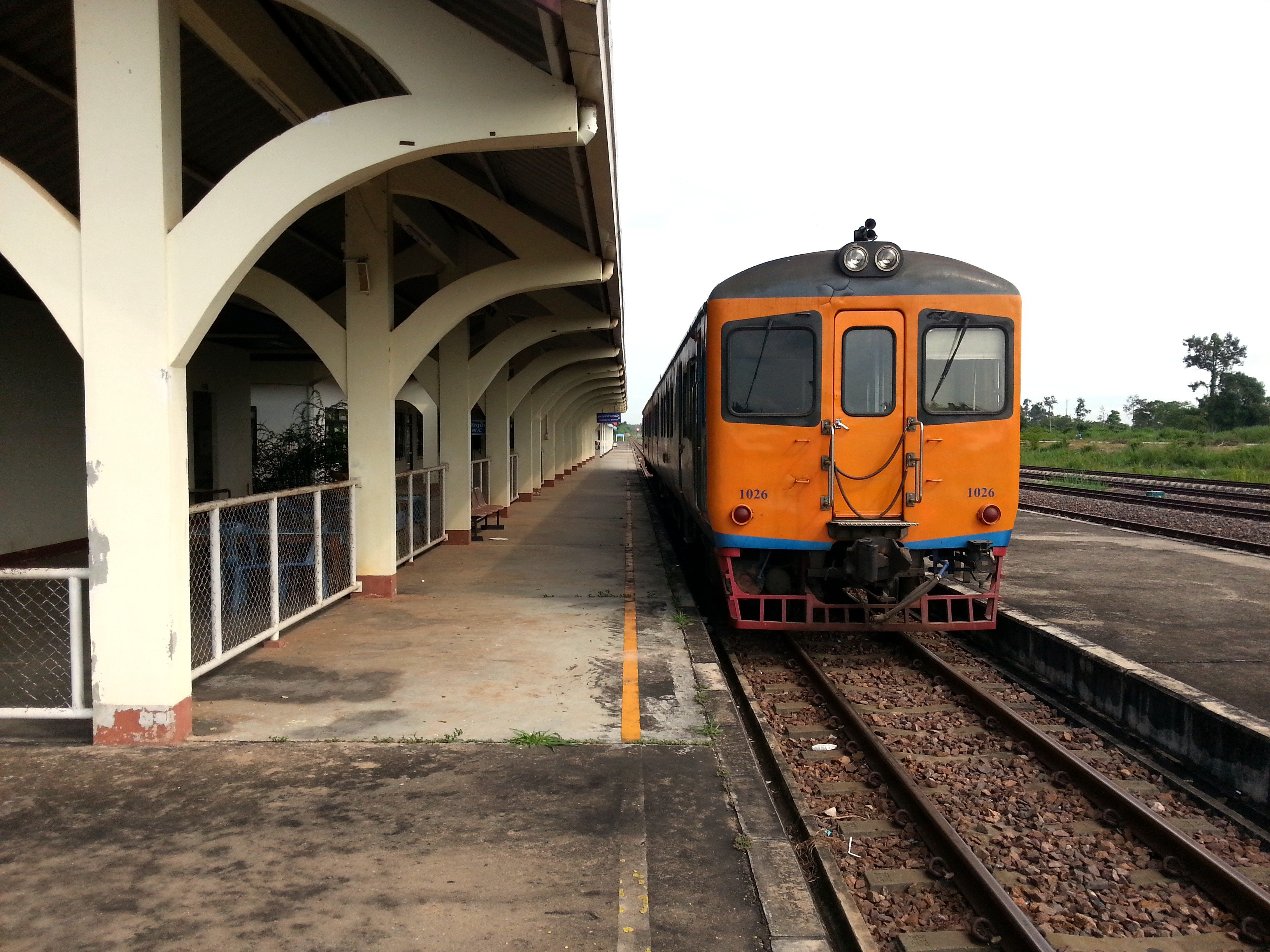 Train from Laos to Thailand