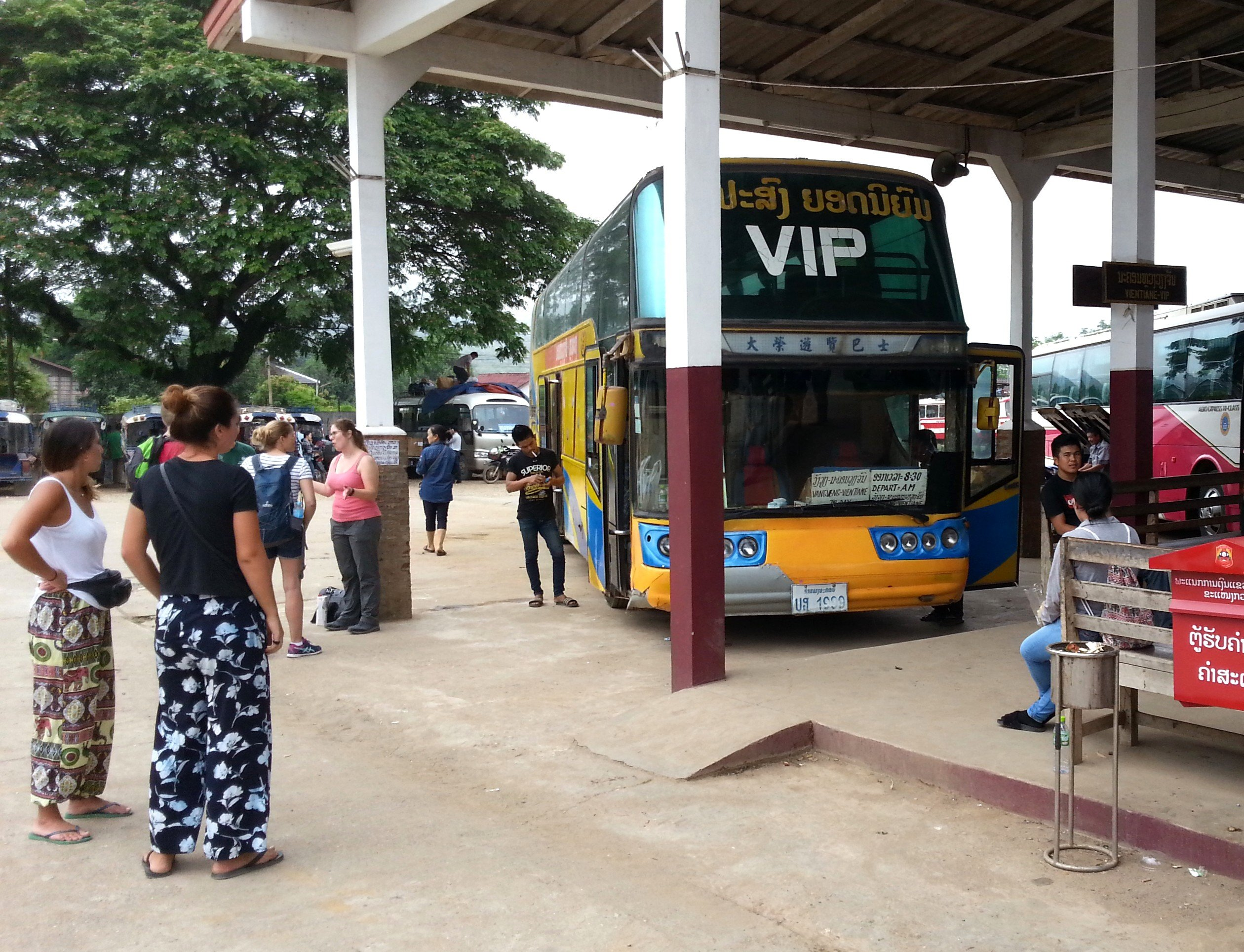 VIP Bus to Vientiane from the Southern Bus Terminal