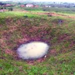 Bomb crater at Jar Site 1