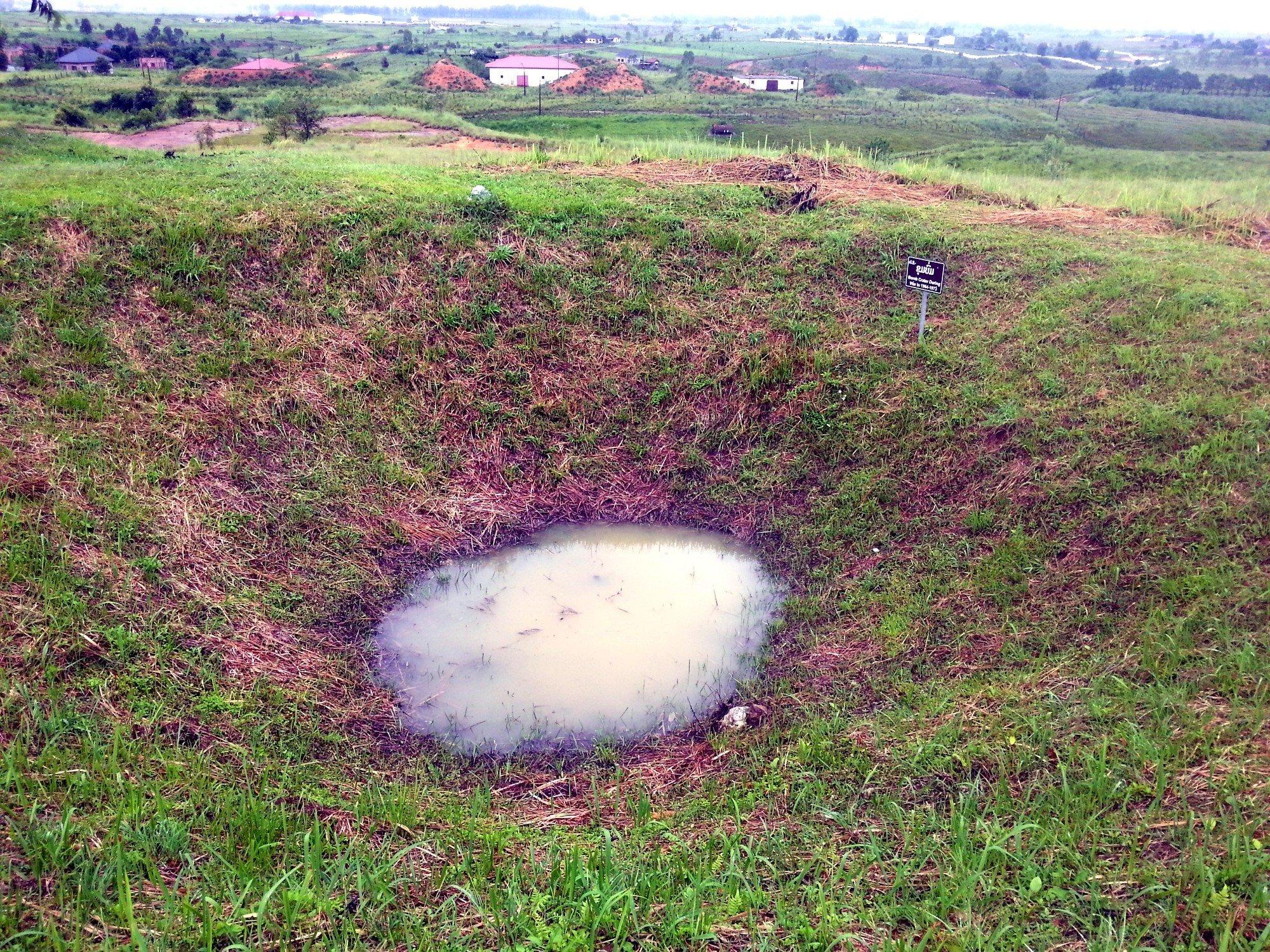 Bomb crater at Jar Site 1