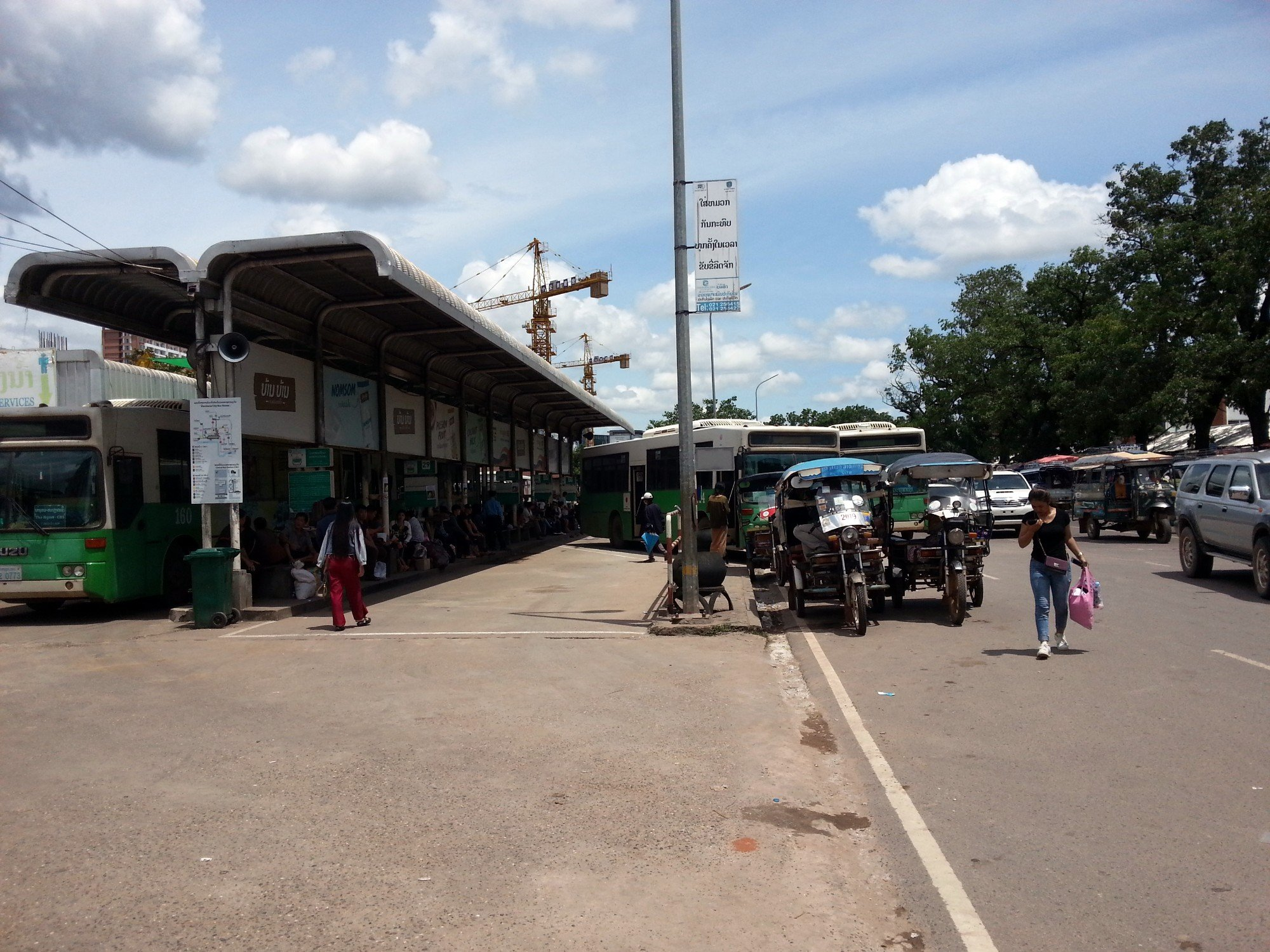 Bus platforms at Vientiane Central Bus Station