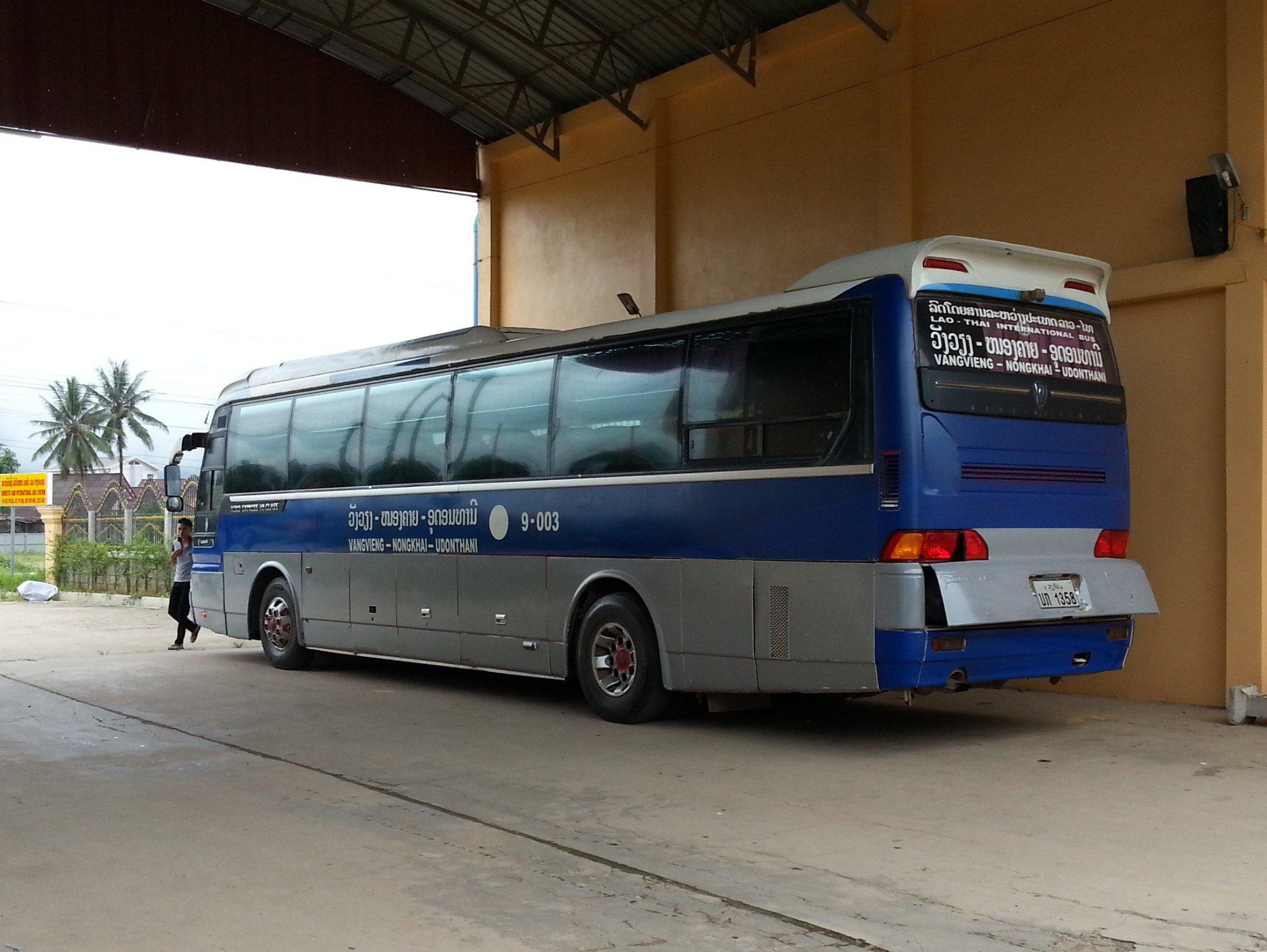 Bus to Udon Thani at Vang Vieng South Bus Terminal