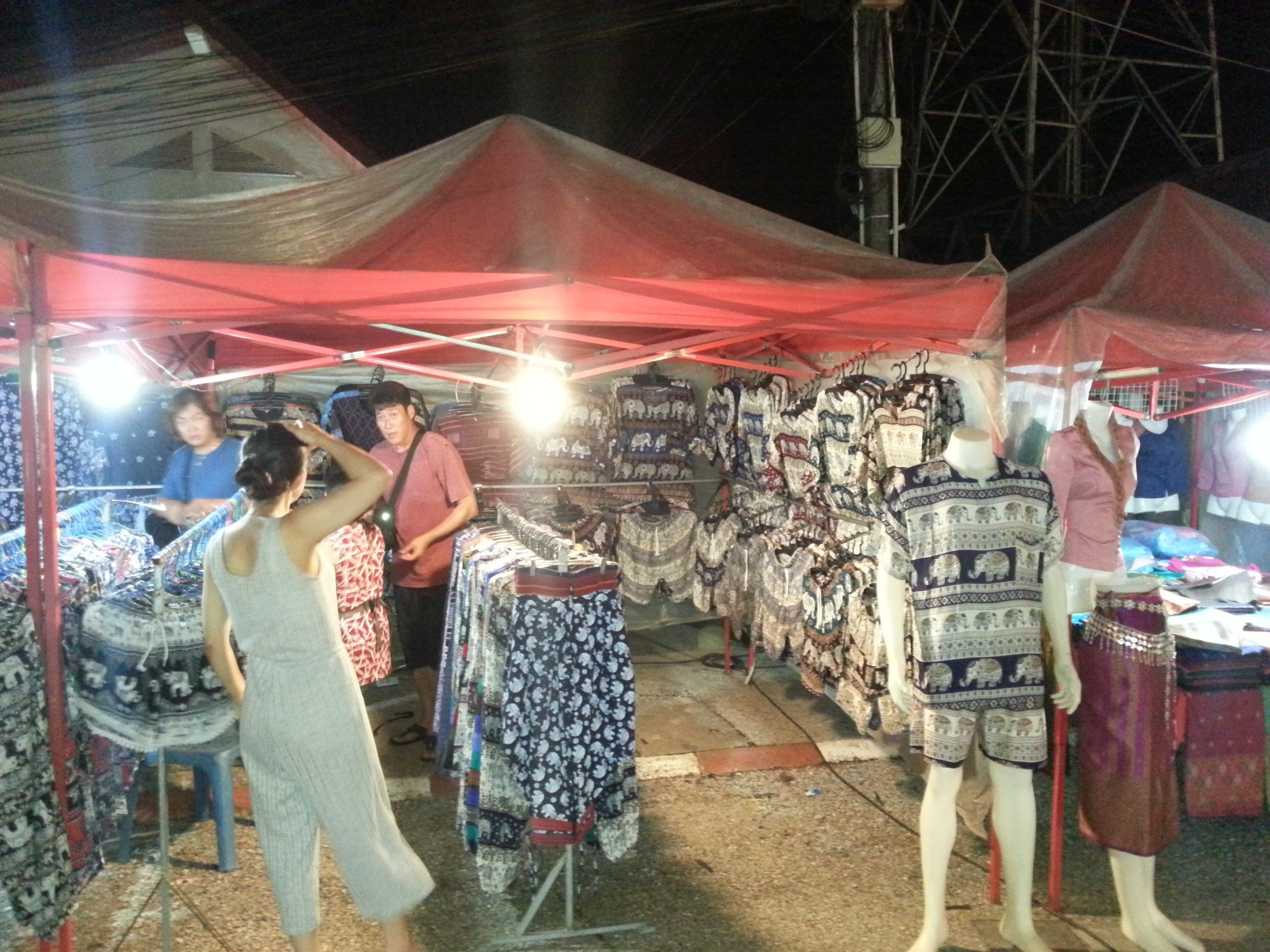 Clothes stall on Walking Street