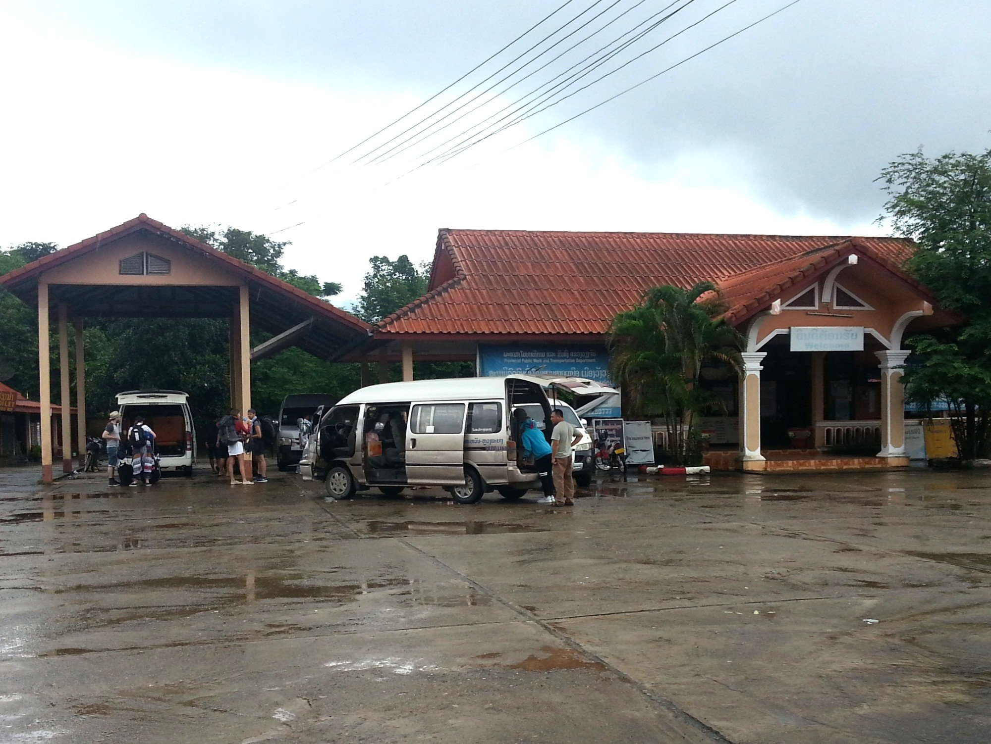 Arrival at Vang Vieng North Bus Terminal