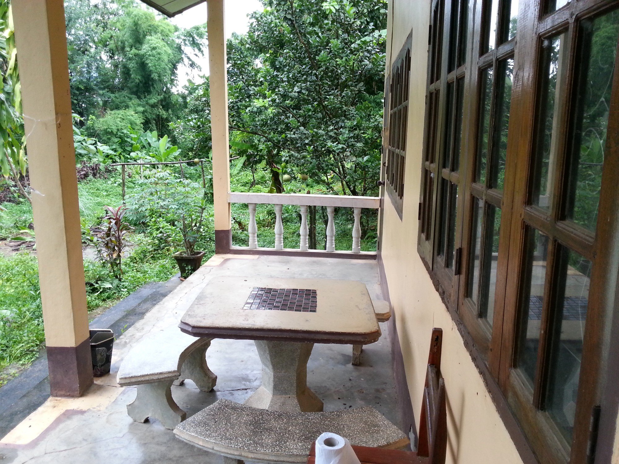 Balcony at the Sengkeo Guesthouse