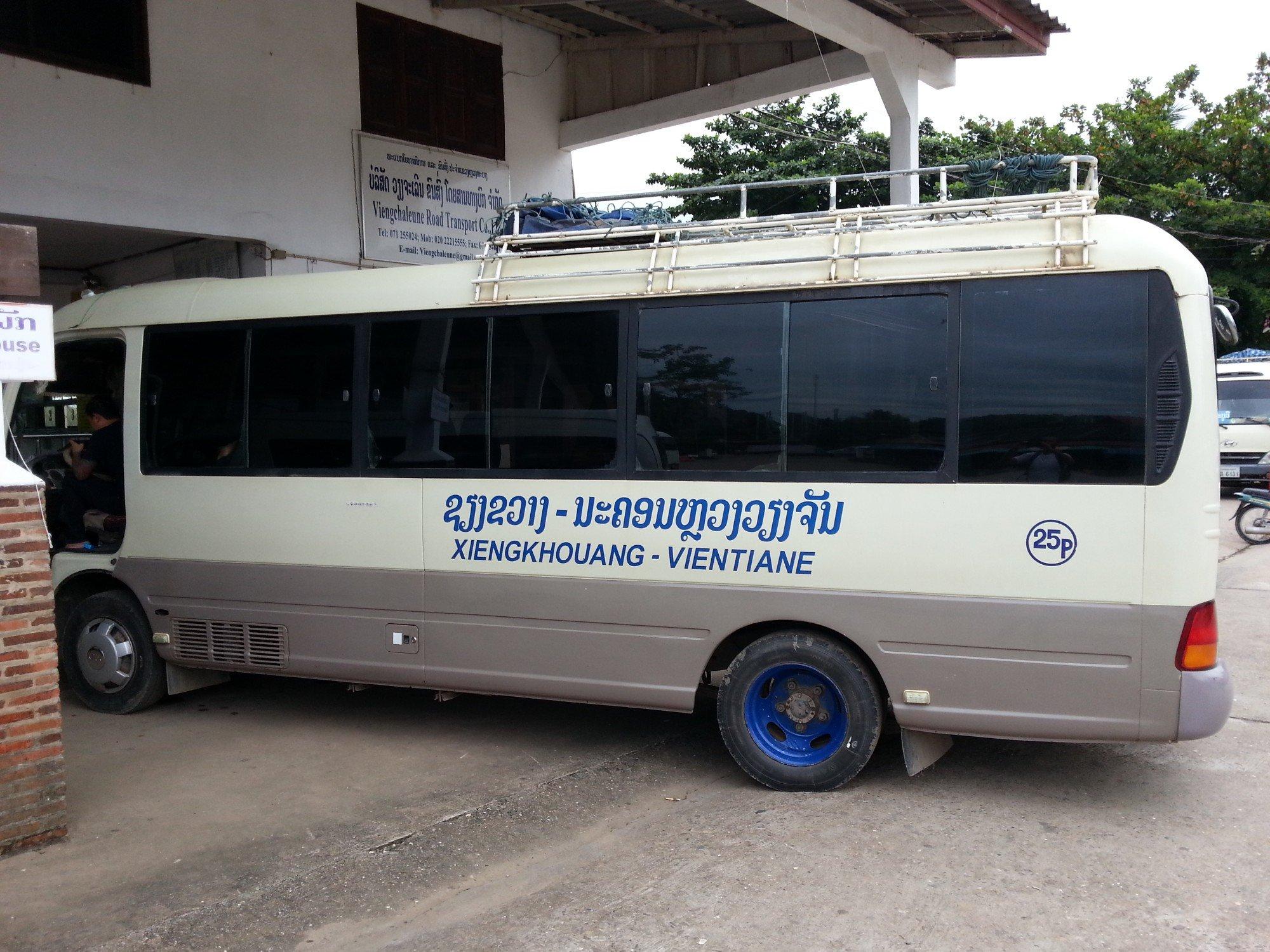 Bus from Luang Prabang to Phonsavan