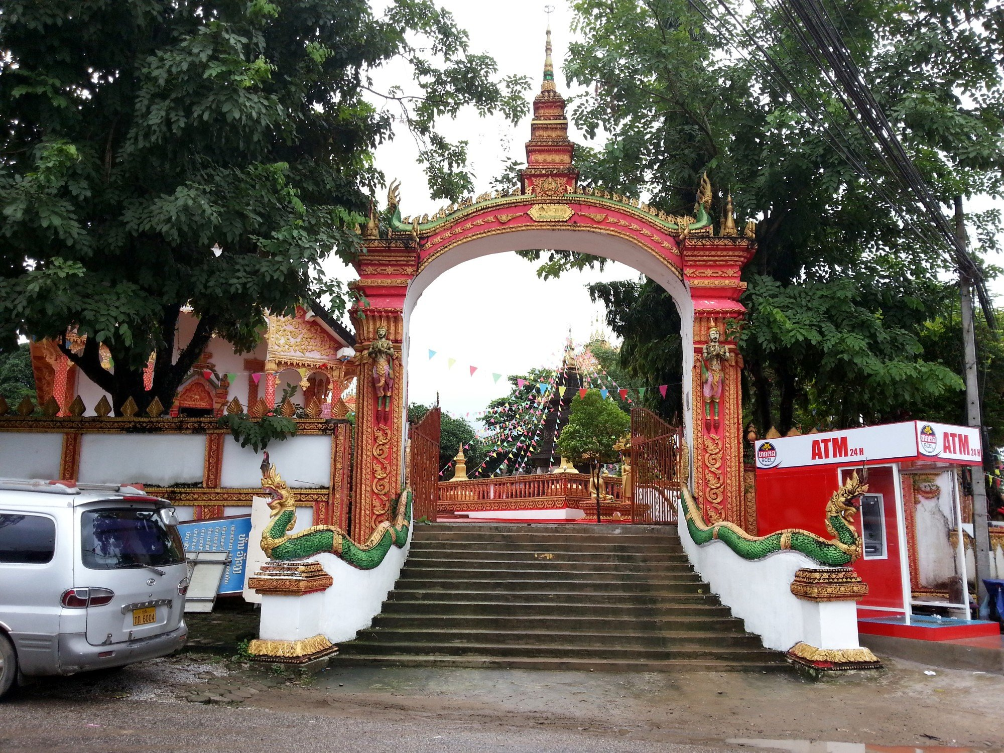 Entrance to Wat That in Vang Vieng