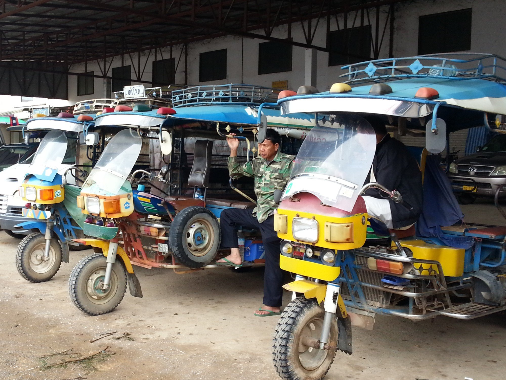 Local transport at Phoukham Garden Bus Station